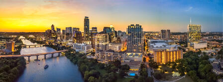 Austin TX skyline in the evening