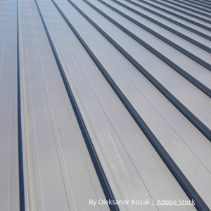 austin roofing - a grey metal roof