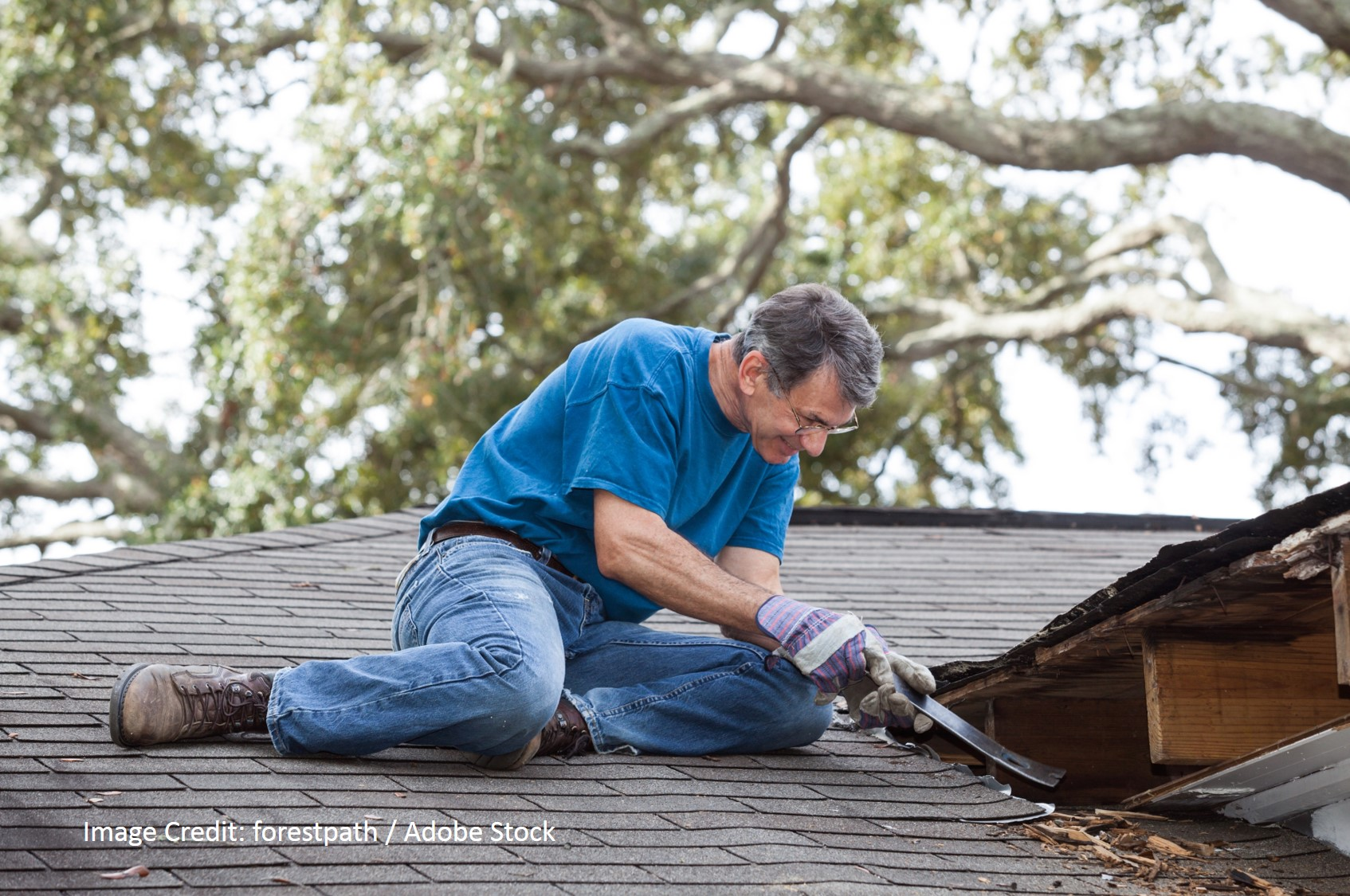 Roof flashing repair is sheet metal repair for joints, edges and breaks in a roof