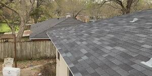 two shingle roofs in Austin TX portraying the roofing supply shortage
