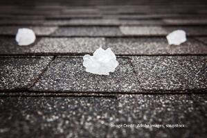 Ice sitting on a shingle roof in Austin Texas